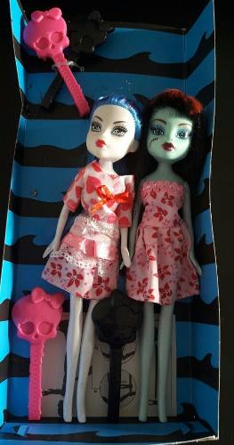 Dos Muñecas Monster High - Ghoulia Y Frankie - No
