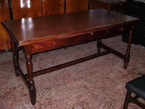 gran escritorio tipo mesa colonial 3 cajones 0.82 x 1.63