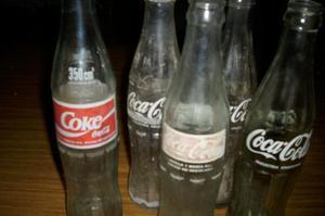 lote de botellitas de coca cola antiguas