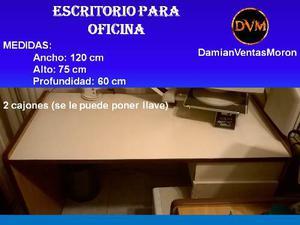 Escritorio Para Oficina (usado) 120 X 75 X 60