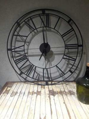 Reloj De Pared Hierro 90 Cm Diametro Con Maquina
