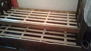 Vendo cama c /carricama una plaza
