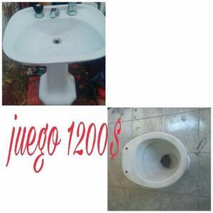 lavatorio con inodoro usado en buen estado