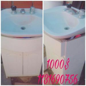 lavatorio con mueble usado en buen estado
