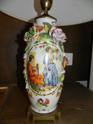 Antigua Lampara Porcelana