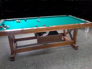 MESA DE POOL 3 EN 1 y SILLAS (para comer, ping pong y pool)