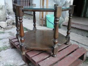 Mesa Ratona Antigua de Roble Estilo Ingles