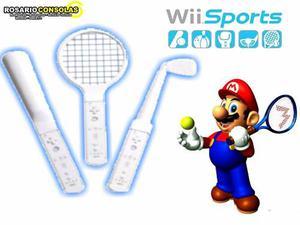 Nintendo Wii Kit Sports 3 En 1 Sellados En Caja Rosario