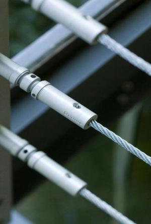 Tensor para cable de acero en barandas escaleras posot class for Tensor cable acero