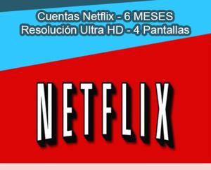 VENDO CUENTA DE NETFLIX PREMIUM POR 6 MESES