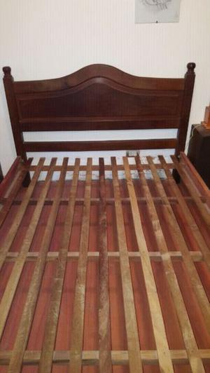 Vendo cama de algarrobo 2 plazas