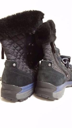 Zapatillas Botas De Mujer Merrell Piel Y Abrigo Polartec