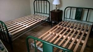 camas antiguas de hierro impecables!!!!!!