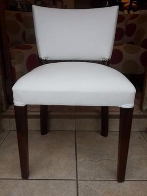 silla tipo poltrona o matera en cuerina blanca $ 999 pesos