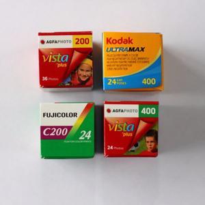 4 Rollos Fotográficos Fuji Kodak Y Agfa 200 Y 400 Asa C41