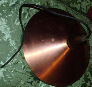 ANTIGUA LAMPARA COLGANTE TECHO-COMEDOR CHAPA