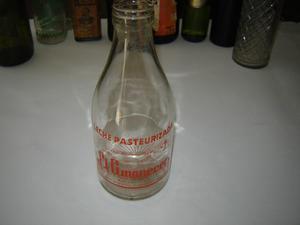 Antigua Botella Leche El Amanecer  Cc.