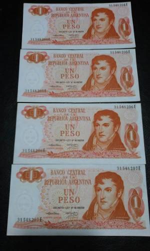 Billetes De Argentina Pesos Ley Correlativos