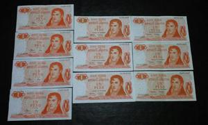 Billetes De Argentina Pesos Ley Correlativos Series D, E Y F