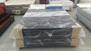 COLCHON MAS SOMMIER MAXIKING BRISAS 140X190 CON DOBLE