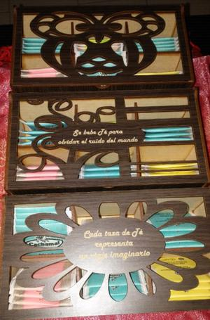 Cajas artesanales de te