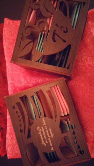 Cajas artesanales de te. Ideal para regalar!!