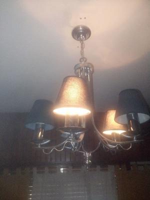 Lampara de techo ara a moderna cinco luces posot class - Lampara de arana moderna ...
