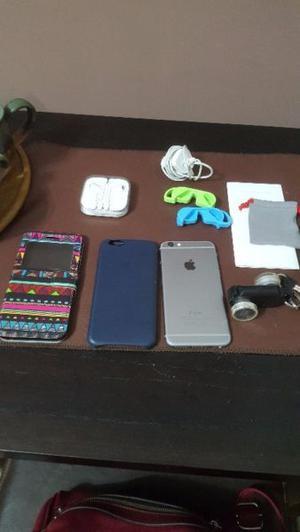 Iphone 6 con todos sus accesorios y regalos impecable