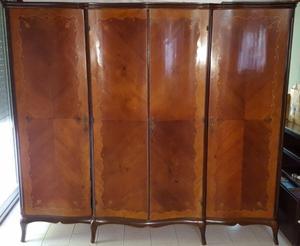 Juego de dormitorio completo Luis XV con colchón de