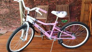bicicleta semi nueva Marca Muzetta de niña, rodado 24