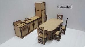 Kit Cocina Y Comedor Barbie 10 Elementos