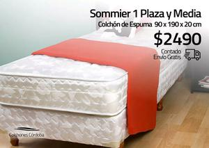 Sommier Espuma 1 Plaza y Media