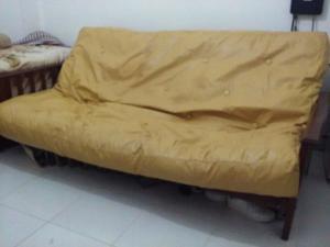 super futon macizo 3 cpos colchon cuerina posot class