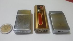 3 Encendedores De Coleccion. Los 3 Importados. Impecables