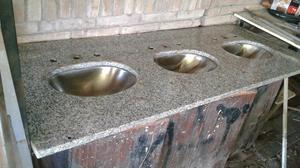 Piedra de mármol 3 piletas