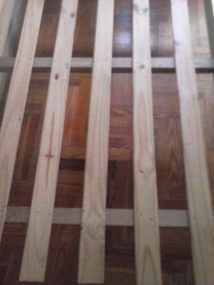 cama de madera de 1 plaza