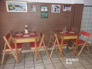 mesa y 2 sillas $-