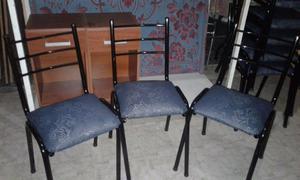 oferta sillas nuevas de caño con tapizado,1x$x$ y
