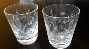 Copas de licor cristal labrado