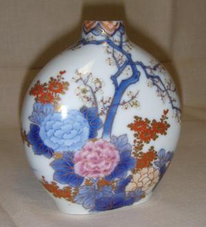 Jarroncito de Porcelana de Japón - Flores de Cerezo - 12 cm