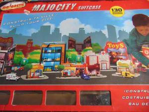 Juego Ciudad Majorette Majocity Suitc (130 Edificio 4 Autos)