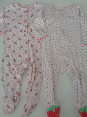 f01bf0250 Lote ropa importada 2 enteritos bebe nena 9 meses carters