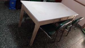 Mesa de cocina tapa fórmica con 1 cajón, de