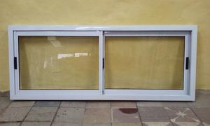 Ventana de aluminio blanca con vidrios somos posot class - Ventana de aluminio precio ...