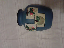 florero de ceramica azul ¡¡¡¡¡ideal para regalar $100