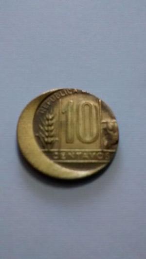 moneda antigua mal acuñada