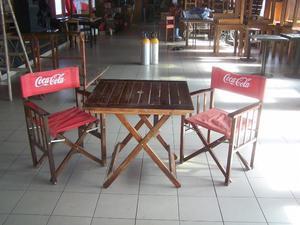sillas sillones director mesas para bar plegables