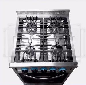 Cocina Industrial Fornax 4 H 55 Cm Visor Acero Y Fundición