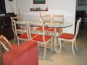 Juego comedor antiguo estilo ingl s sheraton mesa posot for Comedor en ingles