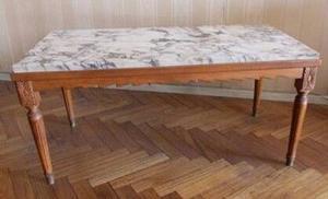 Mesa ratona antigua estilo luis XVI madera roble tallada
